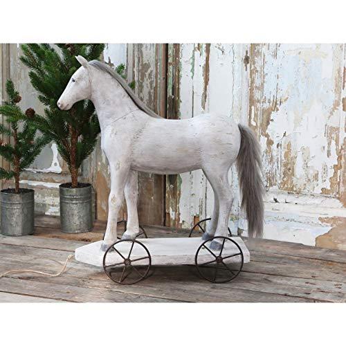 Chic Antique XL 57cm Groß Vintage Pferd antik zur Dekoration Dekopferd Landhaus Shabby Chic Vintage French Chic Weihnachten Weihnachtsdeko