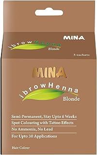 MINA Eyebrow Henna for Eyebrow Color and Tinting kit- Blonde