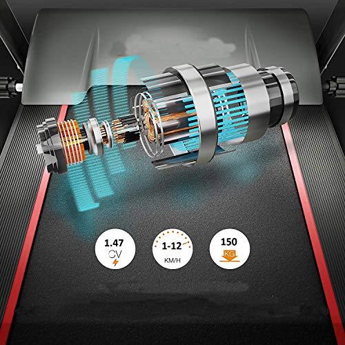 51b1+wPtWHL - DXIII DELUXE13 Cinta de Correr Andar Plegable Eléctrica Motor 1,47 CV | Soporta 150 kgs | Reclinación Ajustable