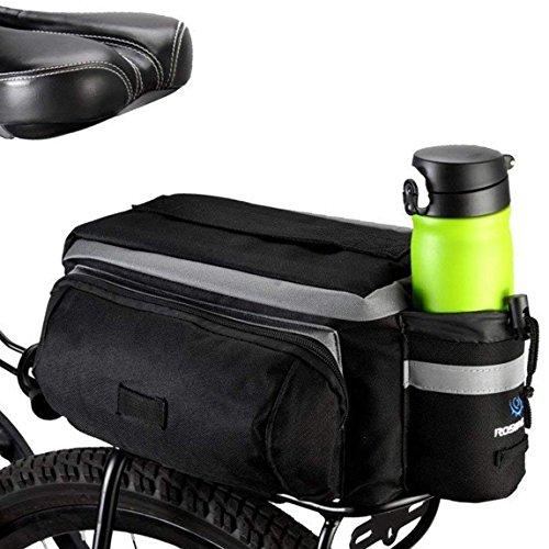 Bolsa BestFire para la parte trasera de bicicleta de montaña MTB, de 7 l de capacidad, impermeable