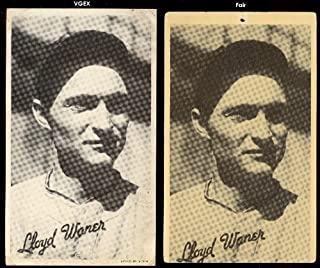 1936 Goudey R314 wide pen type 1 (Baseball) Card# 112 lloyd waner portrait(no litho) of the Pittsburgh Pirates Fair Condition