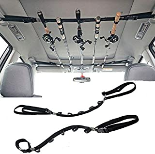 WANLIAN Vehicle Fishing Rod Holder 86.6 Inches Length Adjustable Polyester Strap(2 Strap)