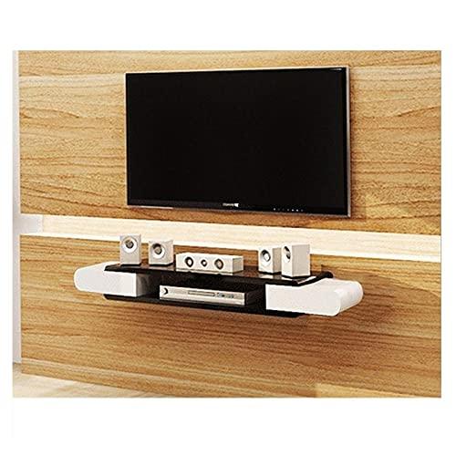 Gabinete de TV, TV baja, estantes flotantes, consola de televisión flotante, soporte de estante de pared, soporte de TV, para accesorios de TV, reproductor de DVD, enrutador wifi, caja de TV, caja de