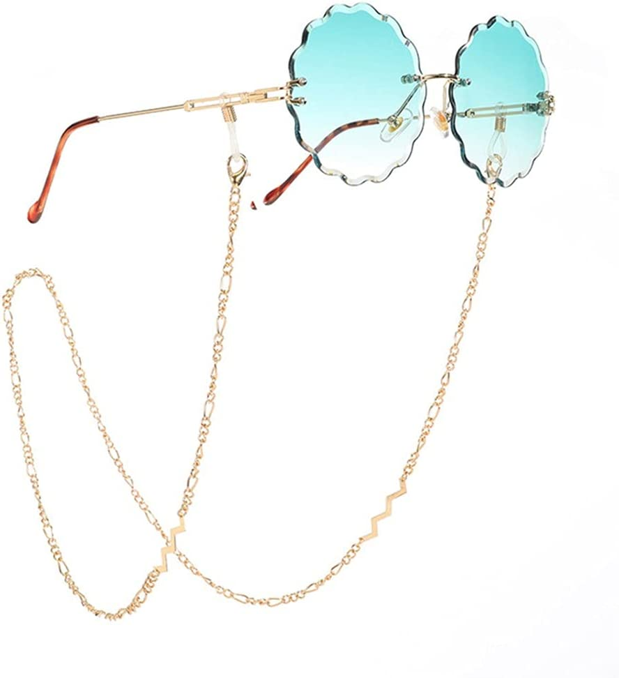 YFQHDD Colorful Crystal Tassel Reading Glasses Chains Bohemian Gold Bead Chain for Glasses Lanyard Women Sunglasses Accessories (Color : A, Size : Length-70CM)