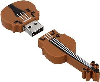 Alimao 32GB USB Cartoon Violin Shape Cool Model Flash Memory Stick Drive Pen U Disk