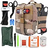 TOUROAM IFAK - Kit de primeros auxilios para traumas, bolsa Micro Rip Away Molle Med, bolsa médica táctica pequeña...