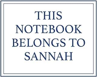 This Notebook Belongs to Sannah