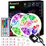 Luces LED 10 Metros, Romwish RGB Tiras Luces LED Habitacion Niños Decoracion Inteligentes Adhesiva Flessibile Luz Luces LED Con...