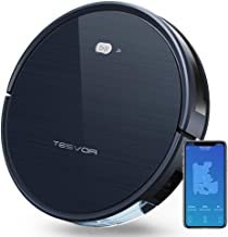 Tesvor Robot Vacuum Cleaner with Smart Mapping System, App Controls, Alexa Connectivity, Pet Hair Care, Self-Charging for Hard Floors and Thin Carpets