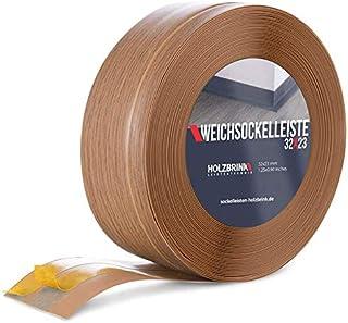 HOLZBRINK Rodapiés flexible autoadhesivo Roble Oscuro Rodapiés flexible 32x23 mm, 10 m Zócalo Autoadhesivo