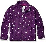 Amazon Essentials Girl's Full-Zip Polar Fleece Jacket, Purple Star, Medium