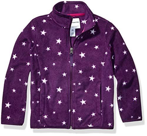 Amazon Essentials Zip-up Fleece Jacket Chaqueta, Purple Star, S (6-7)