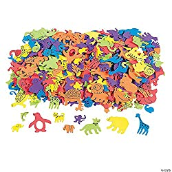 Foam Self-Adhesive Animal Shapes