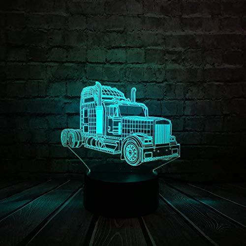 Nachtlicht Neue 3D-Illusion Film Optimus Prime Transformers 7Color Change Led Raumglanz Tischdekoration Mood Light Kindertagsgeschenk