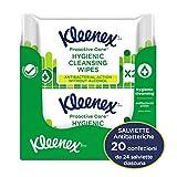 Kleenex Proactive Care Salviette Igenizzanti Anti Batteriche, 480 Salviette - 20 Pacchi da 24 Salviette