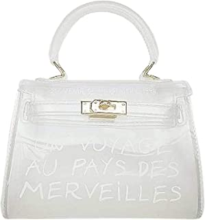 Wiwsi Girls PVC Transparent Handbag Shoulder Bag Clear Jelly Purse Clutch Tote