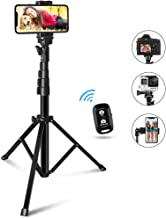 60-inch Phone Tripod, UBeeszie Extendable Cell Phone Tripod Stand with Wireless Remote Shutter, Compatible with iPhone, Android, DSLR, Action Camera.