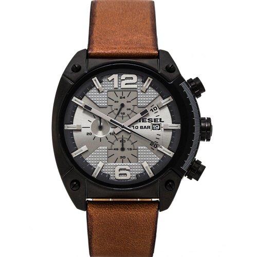 Diesel Herren-Armbanduhr XL Chronograph Quarz Leder DZ4317