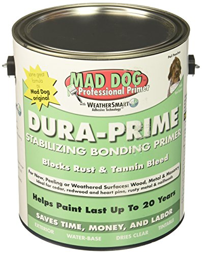 MAD DOG MDP100 Exterior Primer Stops Peeling Rust & Tannin, 1 Gallon, Clear