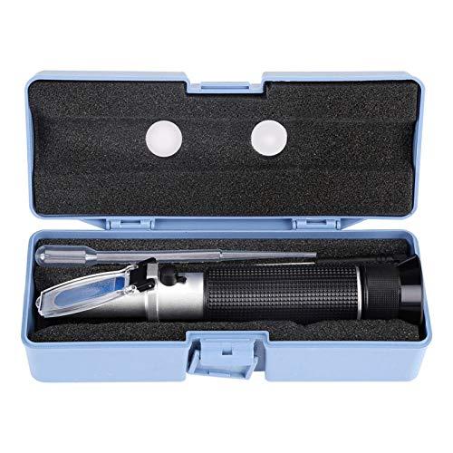 Alcoholtest Refractometer, Likeurtester Professionele Handheld Alcohol 0-80% Test Refractometer Tester Meter Meetinstrument Automatische temperatuurcompensatie is 0-30℃