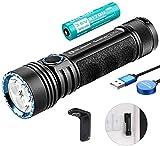 OLIGHT Seeker 2 Pro Táctica Linterna Potente USB Linterna Recargable LED CW 3200 Lúmenes 5 Modos 250...