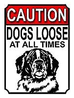 注意犬は常に緩んでいます メタルポスター壁画ショップ看板ショップ看板表示板金属板ブリキ看板情報防水装飾レストラン日本食料品店カフェ旅行用品誕生日新年クリスマスパーティーギフト