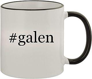 #galen - 11oz Ceramic Colored Rim & Handle Coffee Mug, Black