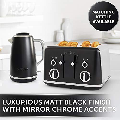 Breville Lustra 4-Slice Toaster Matt Black [VTT969]