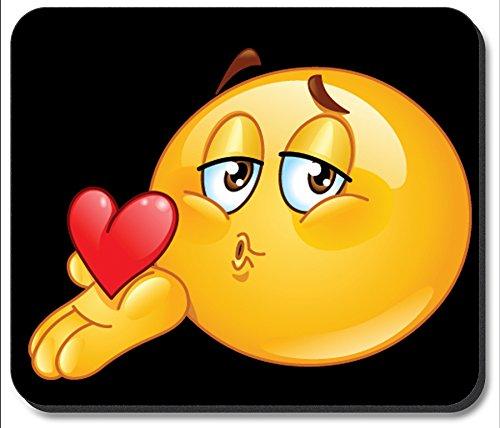 Art Plates Brand Mouse Pad - Blow a Kiss Emoji
