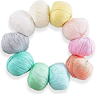 Goodern Pure Cotton Yarn Set DIY Yarn, Perfect for Hand Needlework Knitting and Crochet Woven Project, Great for Garments,...