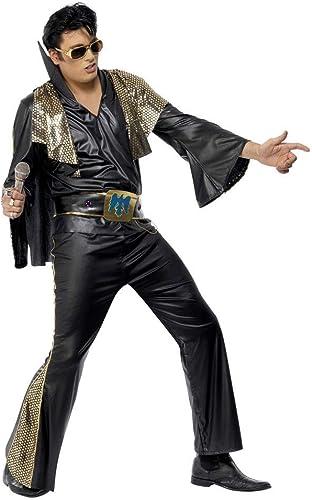 Horror-Shop Elvis Kostüm DLX. SchwarzGold L
