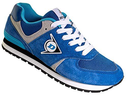 Dunlop Arbeitsschuhe Sneaker Damen - Berufsschuhe mit Rutschfester Sohle Blau Größe 42
