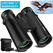 Cayzor 12x42 Binoculars for Adults – HD Professional Binoculars for Bird-Watching Traveling Stargazing Camping Concerts Sports - BAK4 Prism FMC Lens Strap Carrying Bag