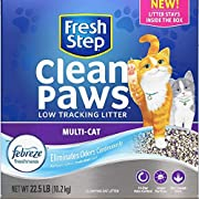 Fresh Step Clean Paws Multi-Cat Litter, Low Dust, Scented with Febreze, 22.5 Lb