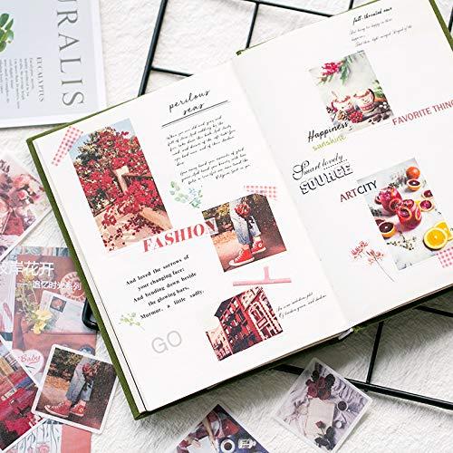 BLOUR Journal Japans stationair dagboek mini kleine reisvlokken leuke sticker stempel vintage scrapbooking