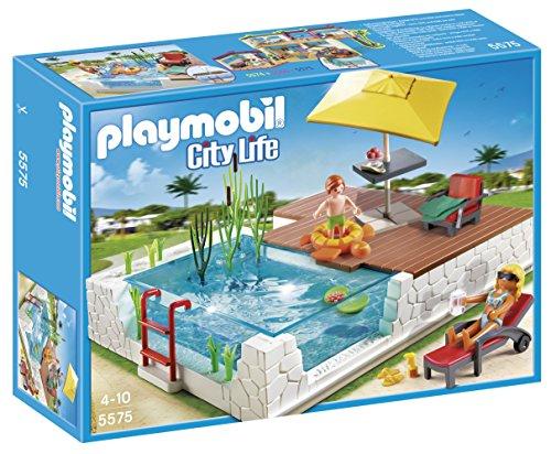 PLAYMOBIL Mansión Moderna Playset Piscina con terraza (5575)