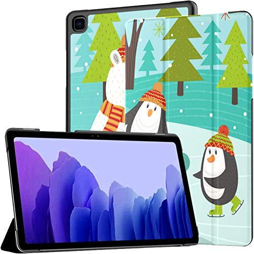 Funda para Samsung Galaxy Tab A7 Tableta de 10,4 Pulgadas 2020 (sm-t500 / t505 / t507), Funda con Soporte de múltiples ángulos de Animales Polares en Pista con activación/suspensión automática
