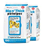 Petkin Petwipes – Big 'n Thick Extra Large Pet Wipes for Dogs and Cats – Cleans Face, Ears, Body and Eye Area – Super Convenient, Ideal for Home or Travel – Pack of 200 Wipes