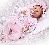 ZIYIUI Bonecas Reborn 23 Pulgadas 57 cm Bebe Reborn Silicona Cuerpo Completo Realista munecas Reborn Vinilo de Silicona Suave Bebe Reborn niña Muñeca de Ojos Cerrados Reborn