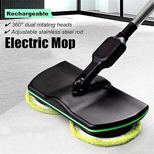 JZQY Power-Schleudermopp wiederaufladbar, lektrischer Mopp 360 drahtloser Reinigungs-Schleudermopp, Haushalts-Handbodenwäscher-Wachsmaschine-Polierer