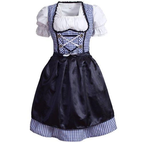 Gaudi-Leathers Damen GL2840 Dirndl, Blau (Blau 065), 38