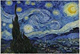 1000 Starry Sky Puzzles. Adult and Children Thick Paper Puzzle Educational Toy (Starry Night), Famous Painting Puzzle (27.5x19.5 in).