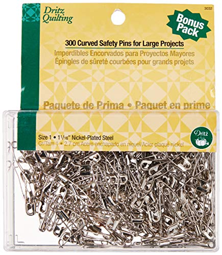"""27mm 100 pcs Nickel Plated Steel SAFETY PINS 1-1//16/"""" length"""