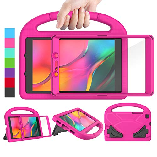 LEDNICEKER Kids Case for Samsung Galaxy Tab A 2019 8.0 Inch SM-T290 / T295, Built-in Screen Protector Shockproof Handle Friendly Stand Kids Case for Galaxy Tab A 8.0 2019 Without S Pen Version - Rose