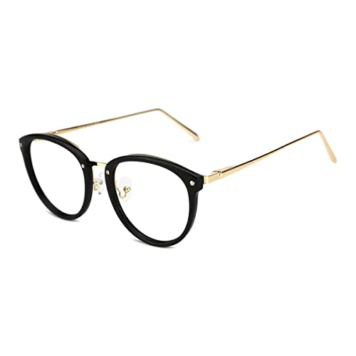 1c5129cc979 TIJN Vintage Round Metal Optical Eyewear Non-prescription Eyeglasses Frame  for Women