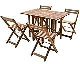 YAMAZEN Gardenmaster バタフライガーデンテーブルセット(5点セット) MFT8185 5点セット
