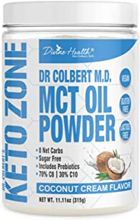 Keto Zone MCT Oil Powder | Coconut Cream Flavor | 30 Day Supply | 75/C8 25/C10 | 0 Net Carbs | All Natural Keto Approved F...