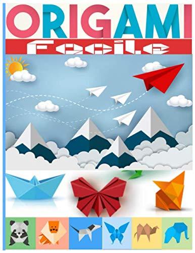 Origami Facile: Contenu en couleur   origami facile enfant  origami animaux   origami animaux 3d idéal pour cadeau   cahier de vacances
