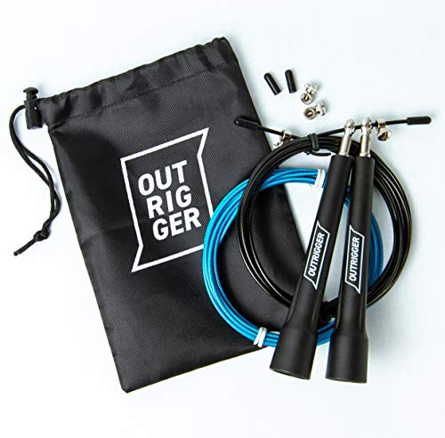 Speed Skipping/Jump Rope Adjustable to All Heights - Ideal for Crossfit and Boxing