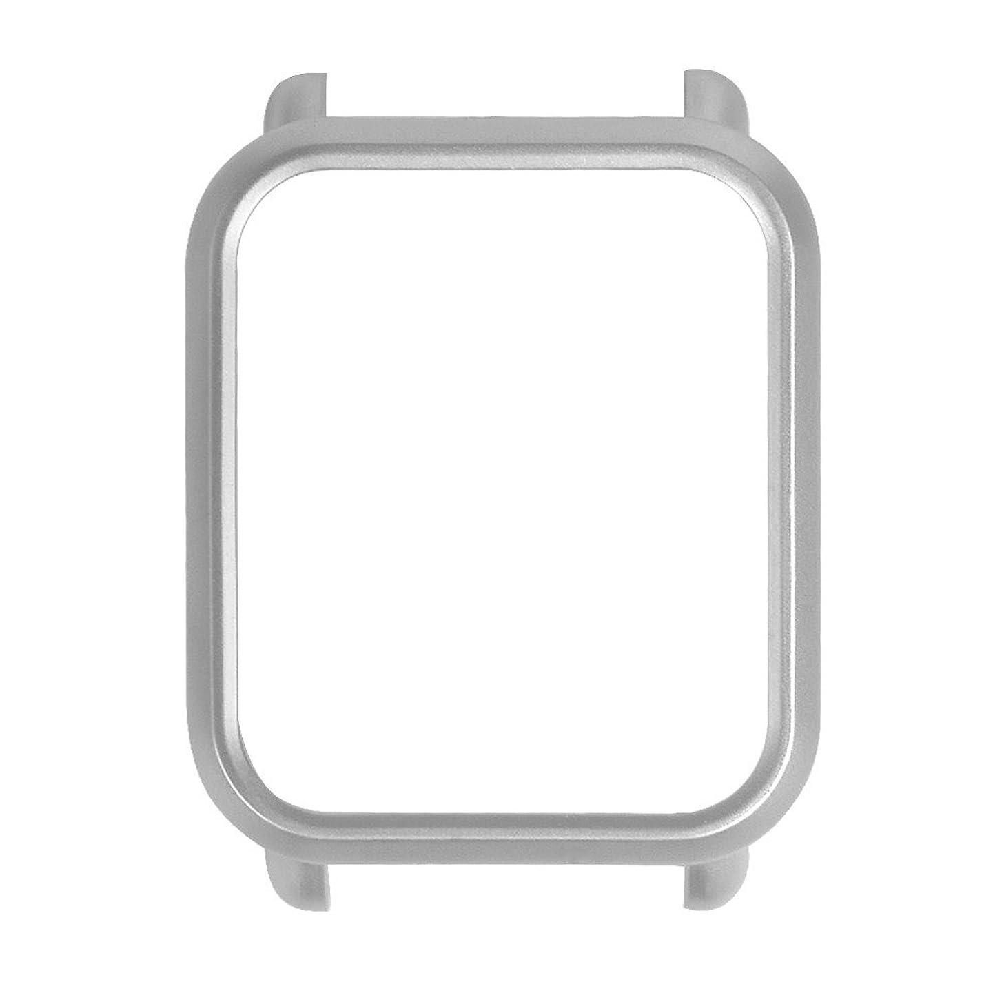 適用するフォアタイプ交通Vaorwne スマートウォッチ プロテクターケース スリムフレーム PCケースカバー Huami Amazfit Bip Youth に適用する ウォッチ、シェル シルバー